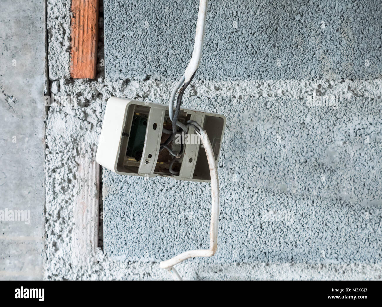 Plastic socket with the electrical wire for ready to install near ...