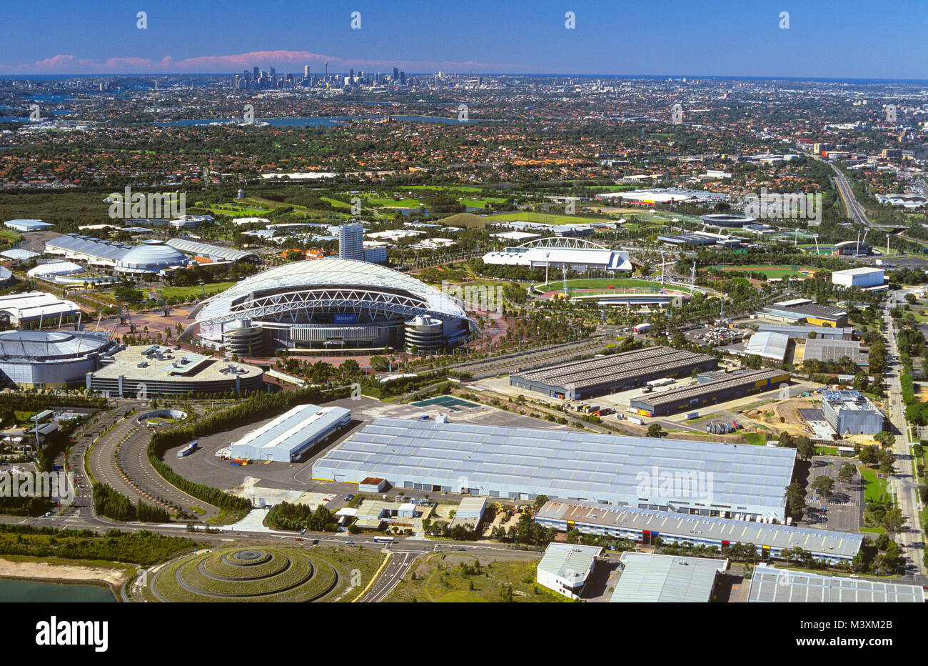 An Aerial View Of Sydney Olympic Park At Homebush NSW