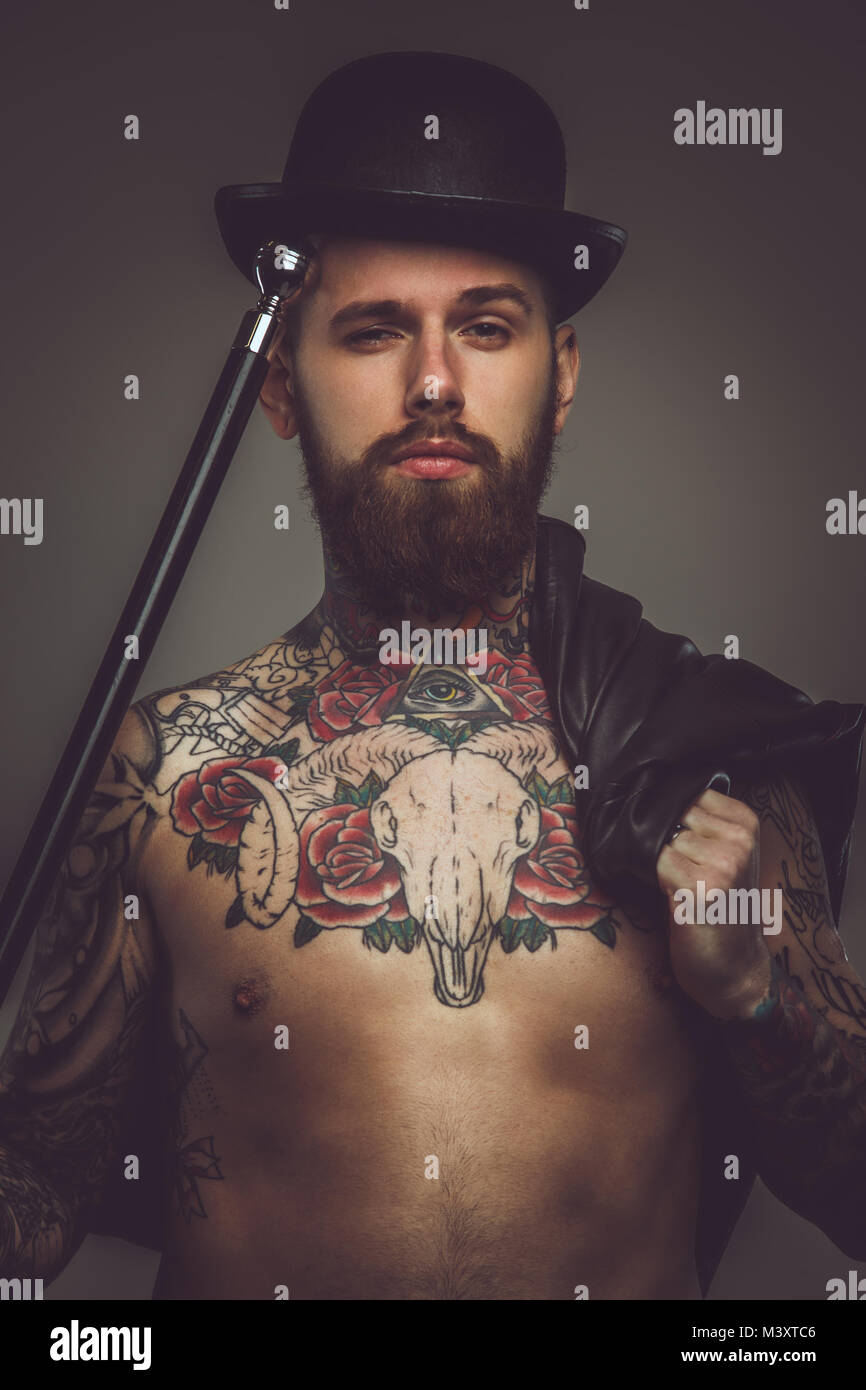 Men with beards tattoos and muscles apologise