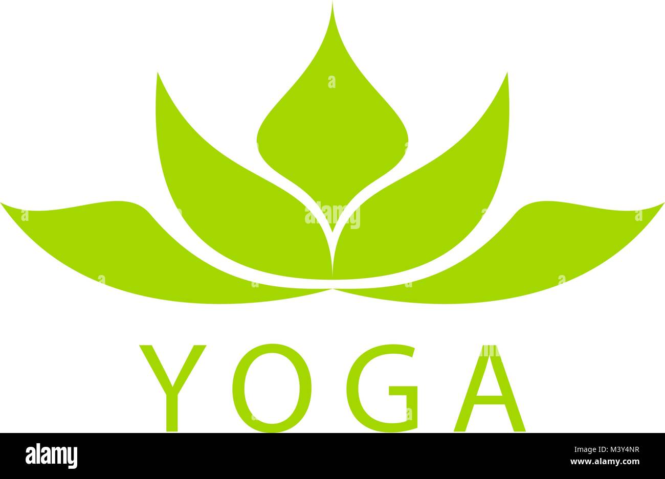 Abstract Lotus Flower Logo Sign Design Yoga And Spa Beauty Studio