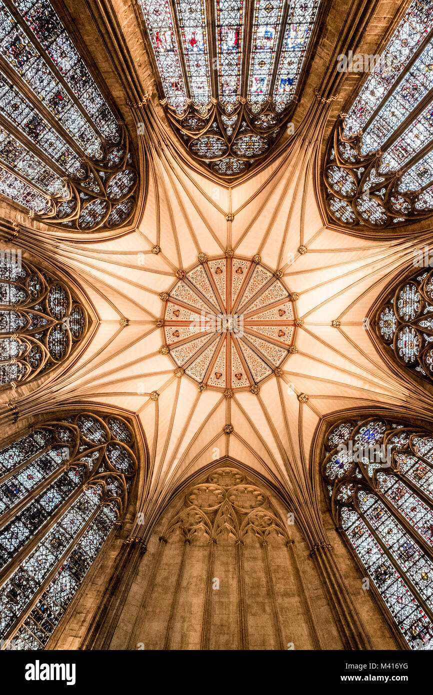 The Stunning Stained Glass Windows And Atrium Roof Of York Minster