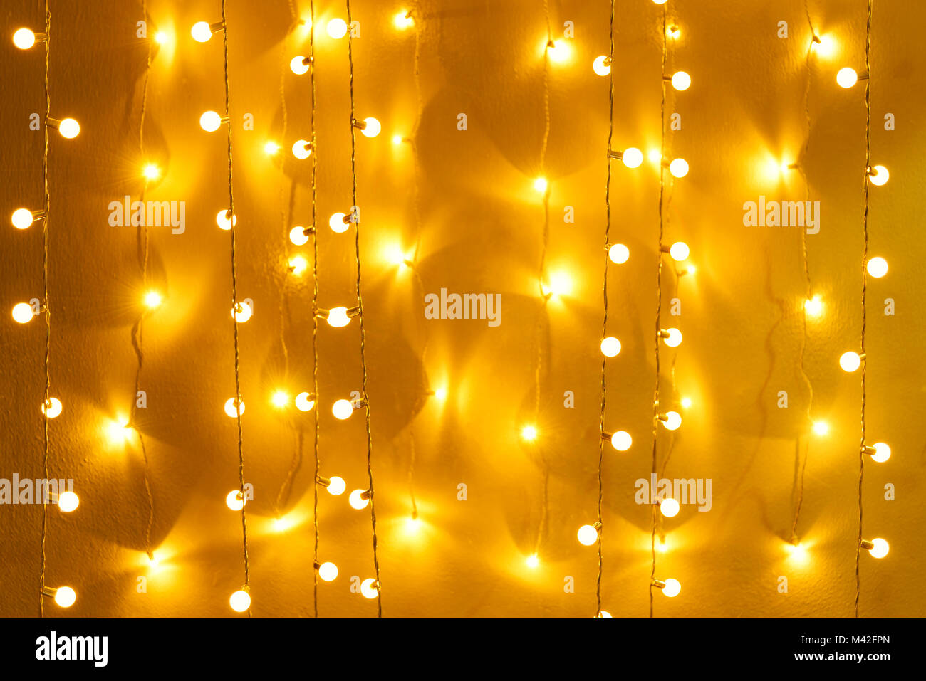 Blurred retro light bulb decor glowing for abstract background Stock ...