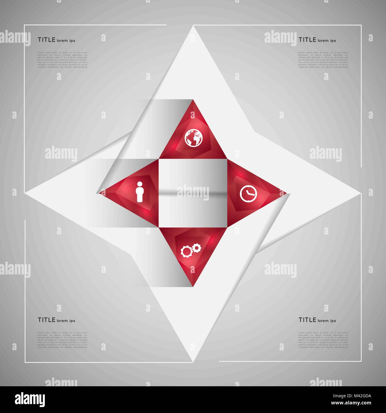 option infographic crystal triangles template graphic element stock