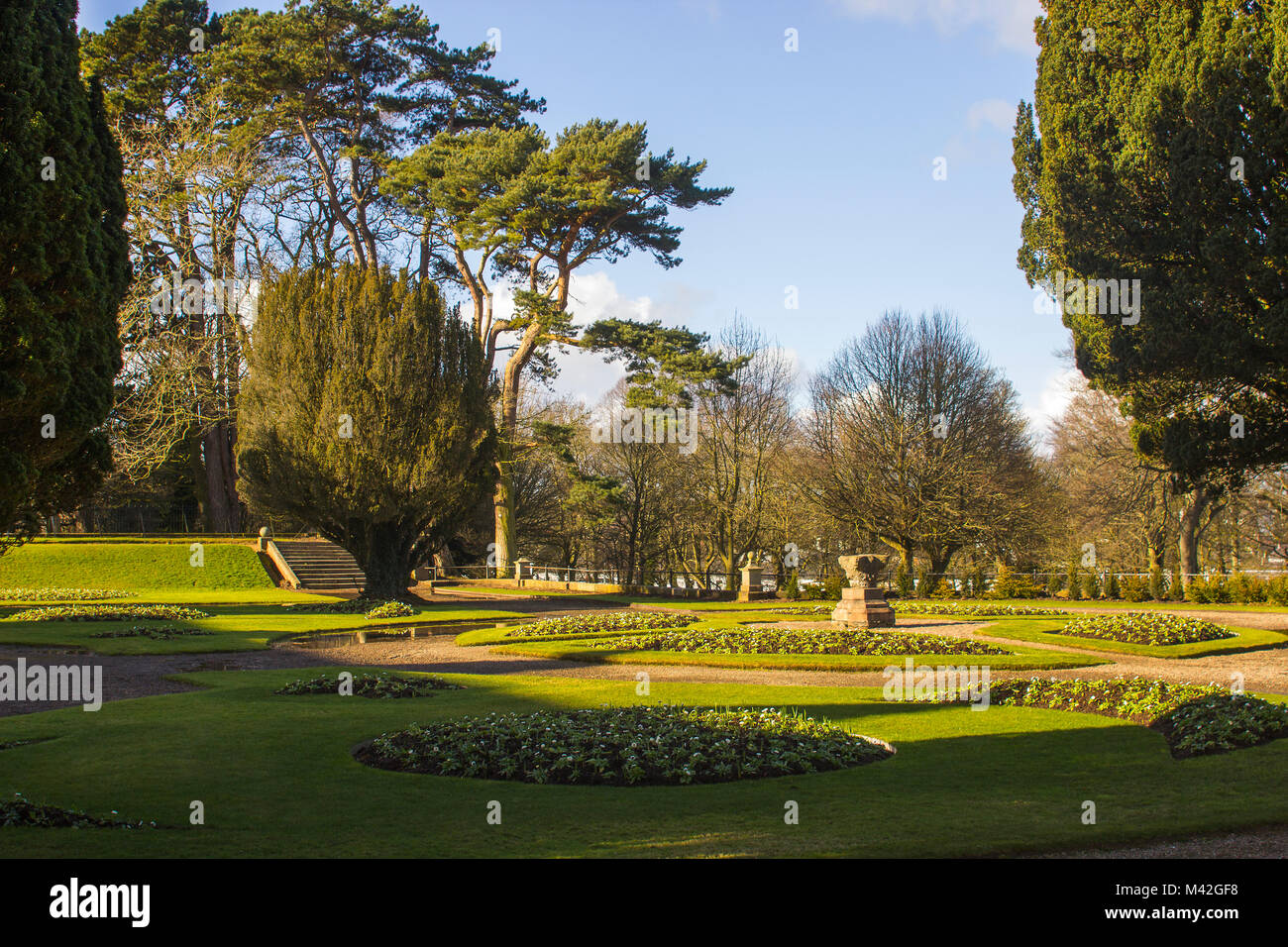 The formal gardens and planting scheme in the grounds of the Town ...