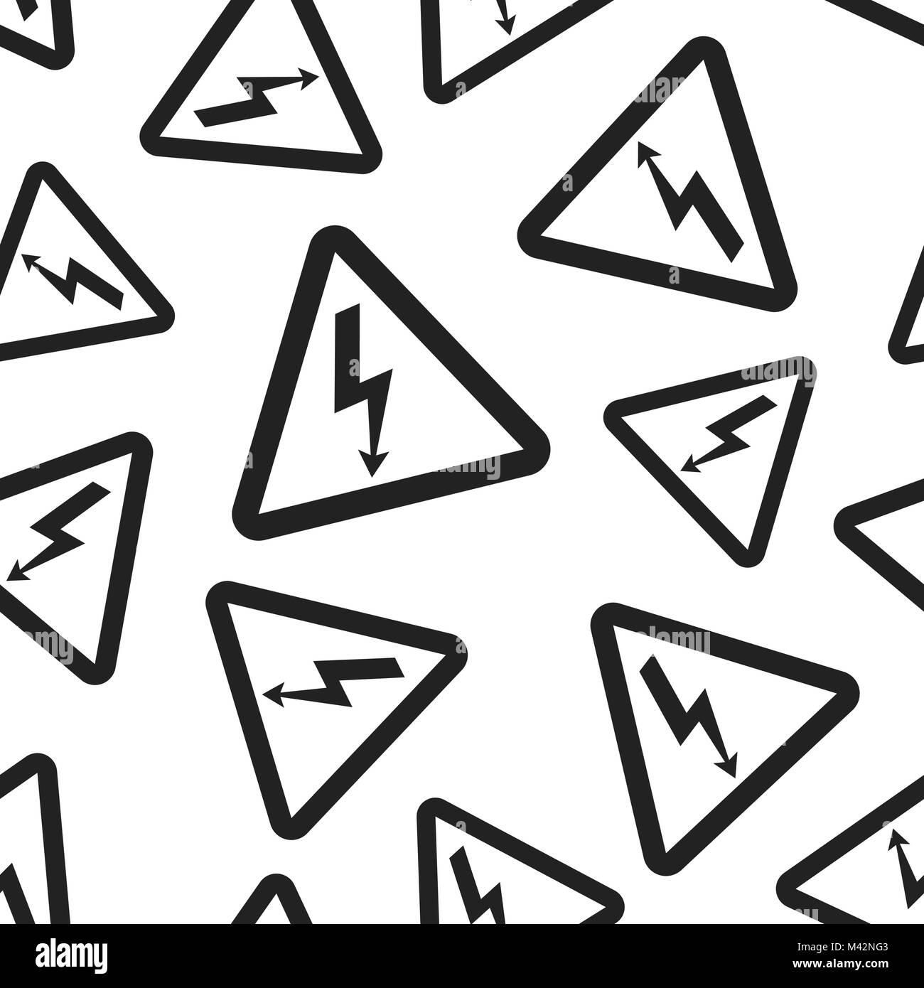 High voltage danger sign seamless pattern background business high voltage danger sign seamless pattern background business flat vector illustration danger electricity symbol buycottarizona