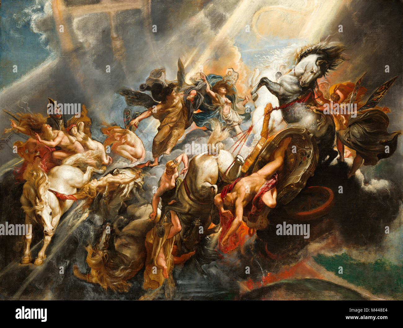 fall of phaeton The story of phaeton, or pheathon, is described in the metamorphoses by the  roman poet ovid (43 bc-ad 17) son of the sun-god helios, phaeton once.