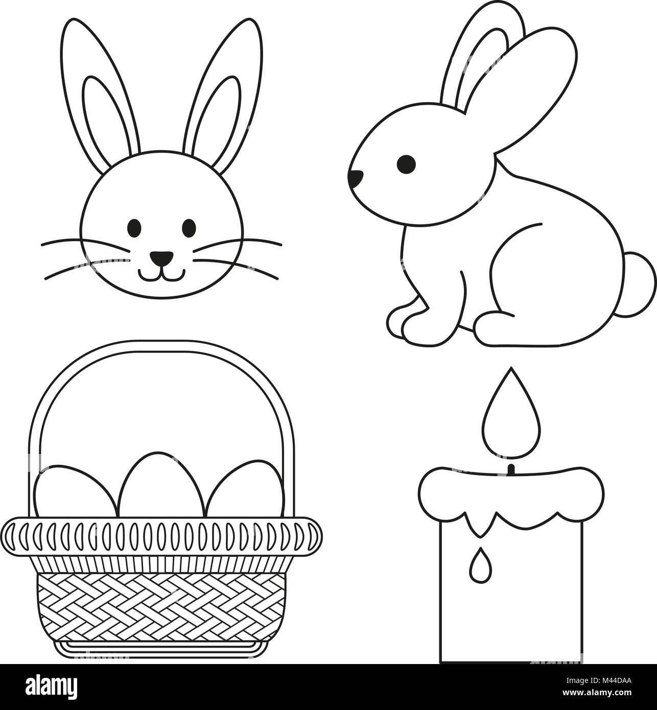 Line Art Easter Bunny : Bunny black and white stock photos images alamy