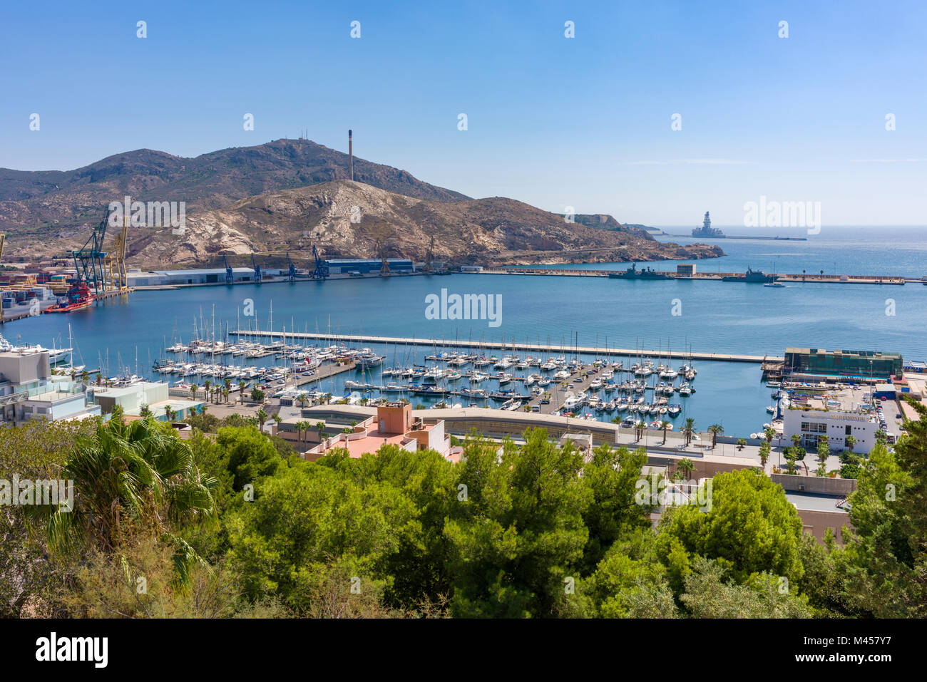 Cartagena spain castle stock photos cartagena spain for City of la 457