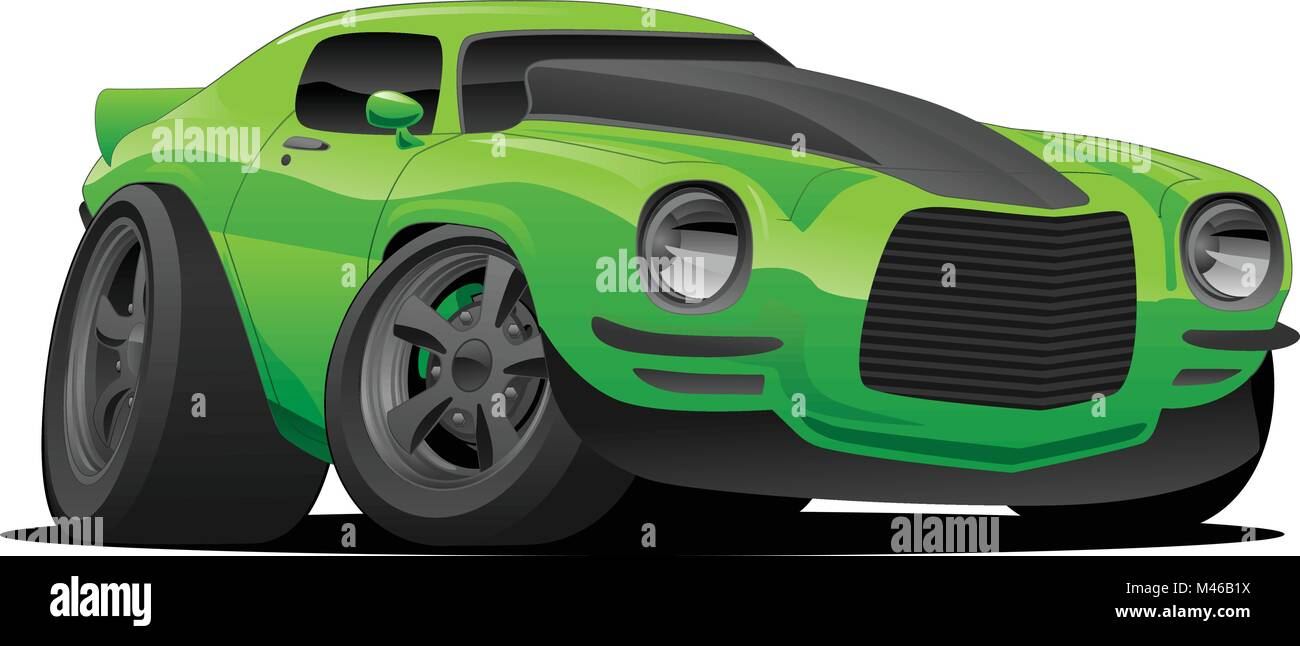 Muscle Car Cartoon Illustration Stock Vector Art Illustration