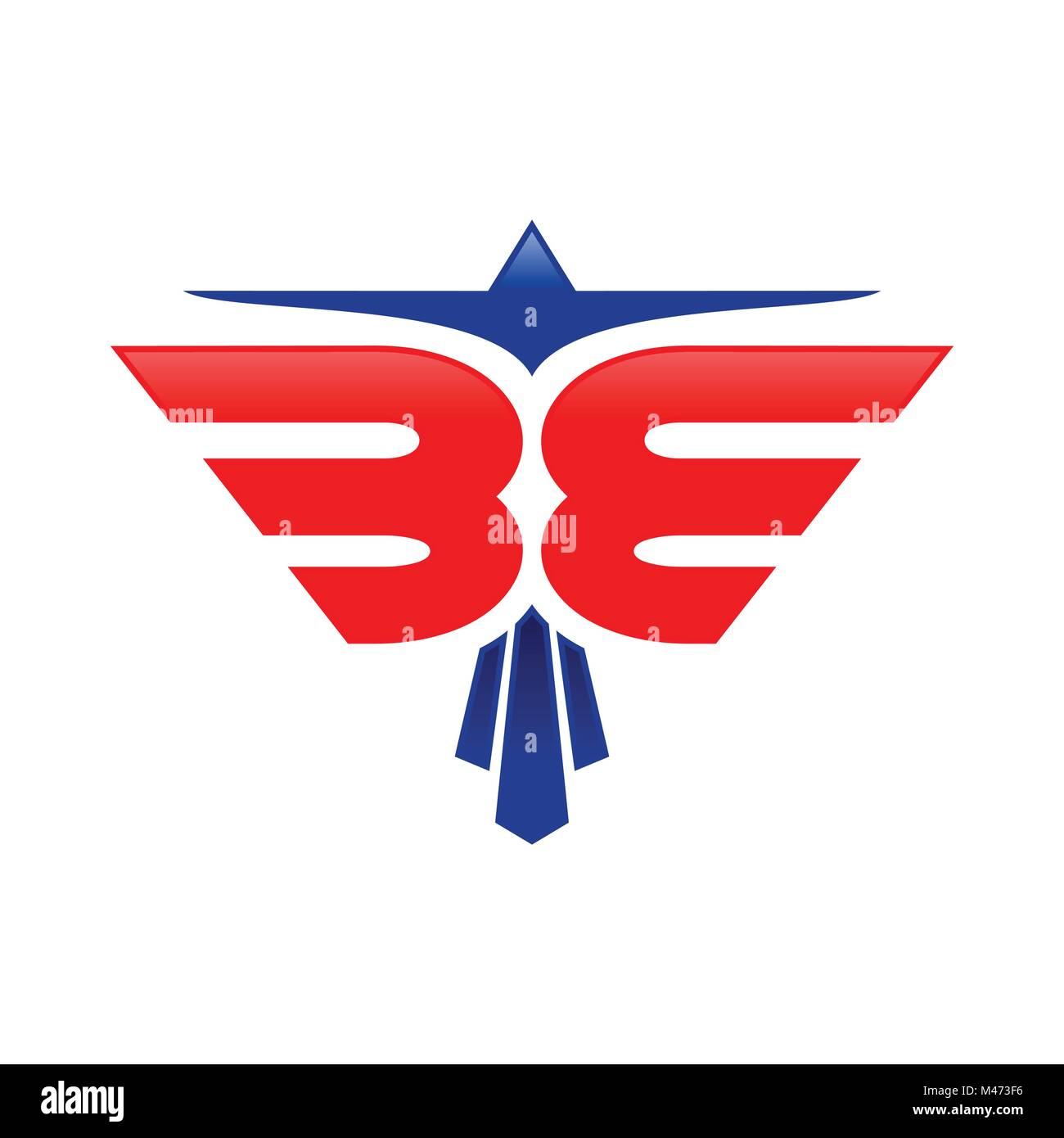 Eagle emblem logo stock photos eagle emblem logo stock images abstract eagle be initials blue red color symbol vector graphic logo design stock image biocorpaavc Gallery