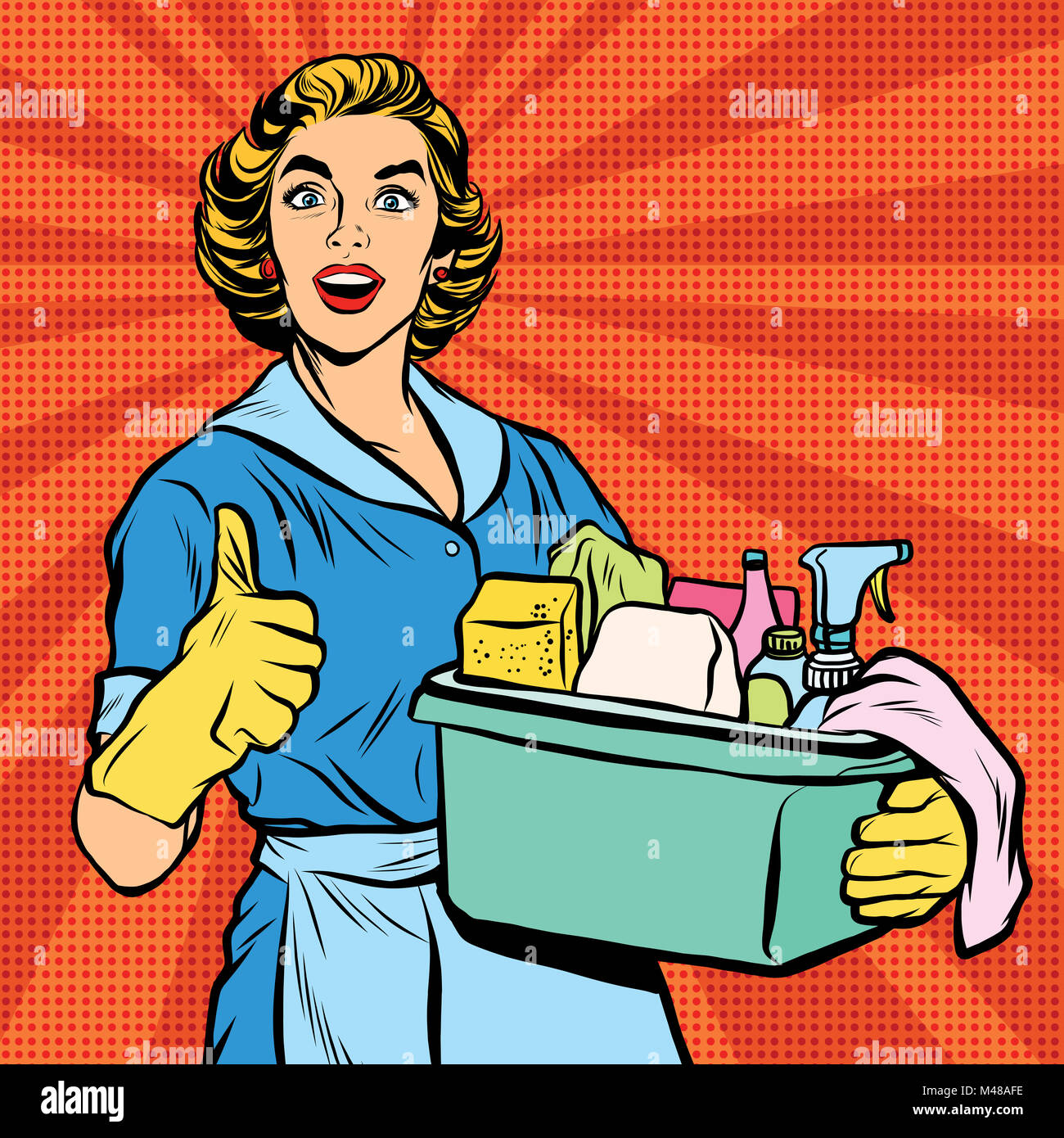 Housewife Bucket Cleaning Lady Stock Photos Housewife