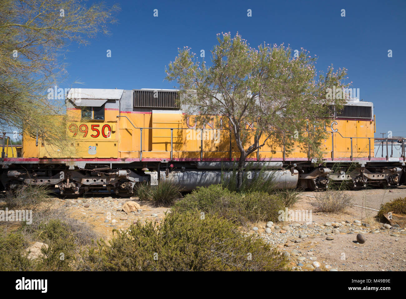 Union pacific railroad museum stock photos union pacific retired union pacific locomotive 9950 at the western america railroad museum barstow california biocorpaavc