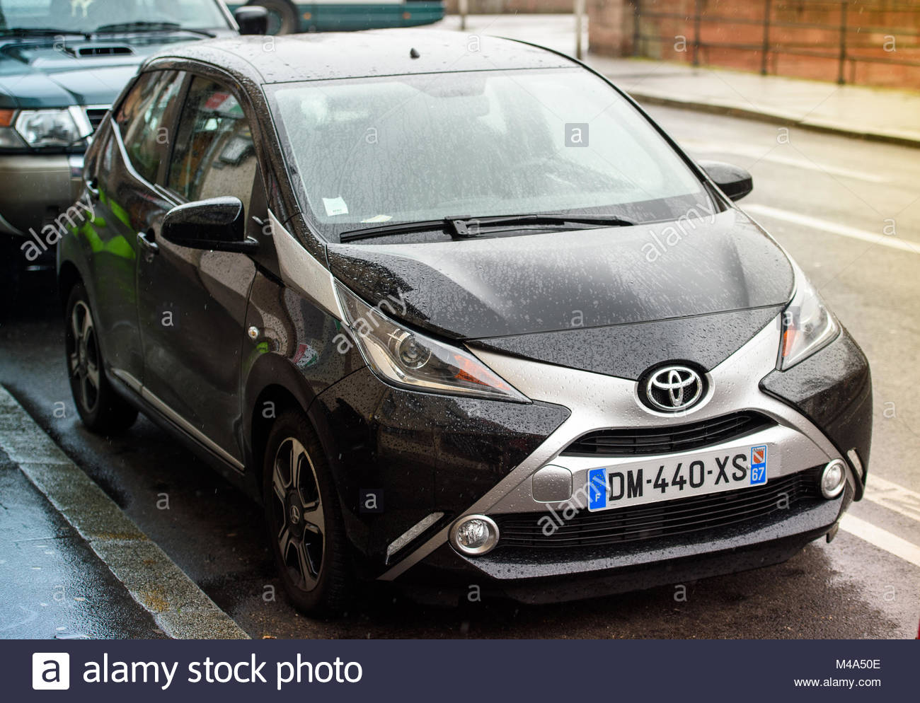 Toyota Aygo Two Door Car Parked In Urban Enviroment   Stock Image