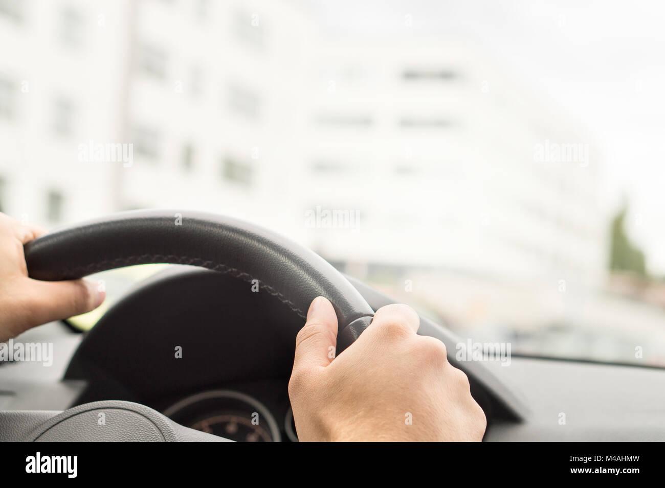 Car Steering Wheel City Stock Photos Amp Car Steering Wheel City Stock Images Alamy