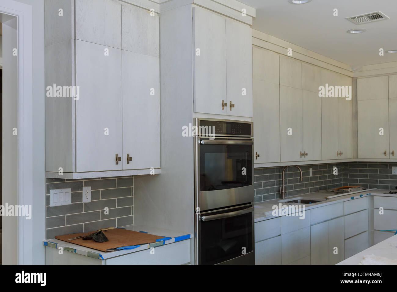 Kitchen cabinets installation Blind corner cabinet, island drawers ...