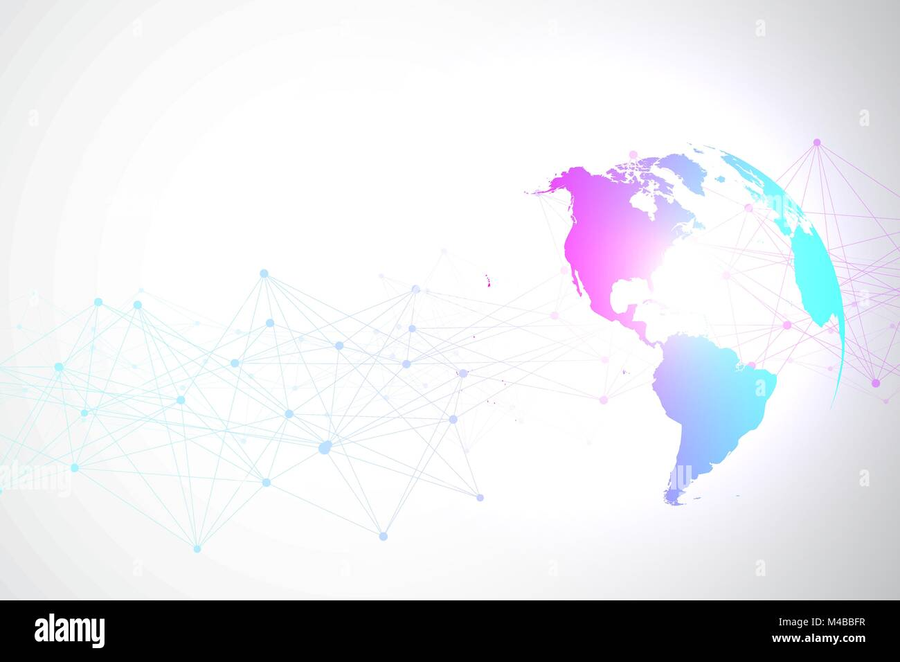 World map point with global technology networking concept digital world map point with global technology networking concept digital data visualization lines plexus big data background communication scientific vector gumiabroncs Gallery