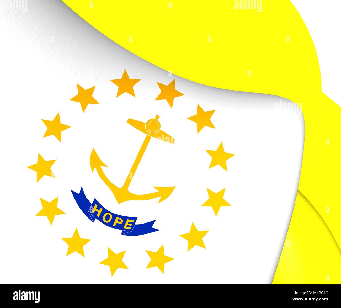 Rhode island state flag stock photos rhode island state flag flag of rhode island stock image biocorpaavc Choice Image