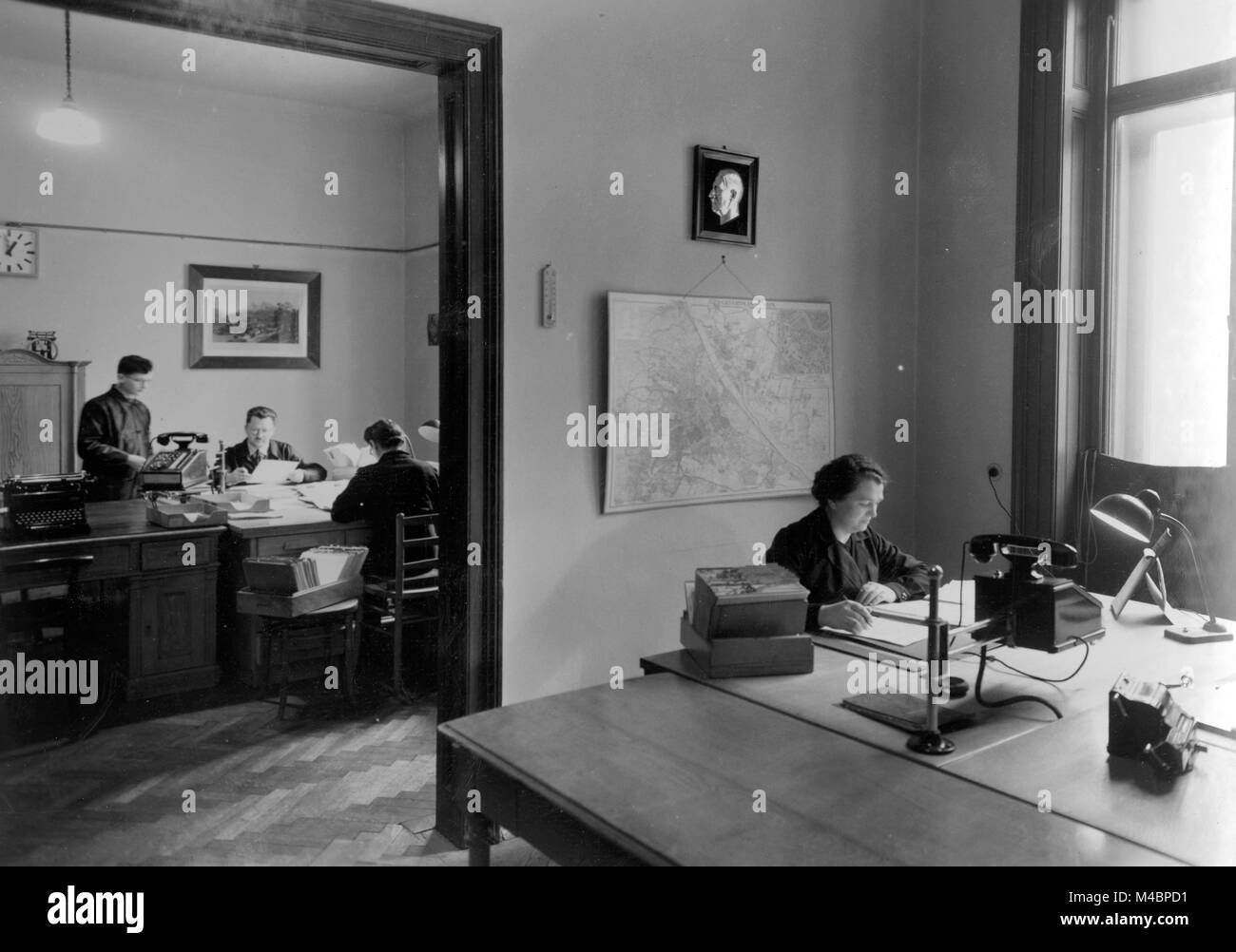 office furniture women ikea officemen and women at the desk1940sexact location unknowngermany unknown