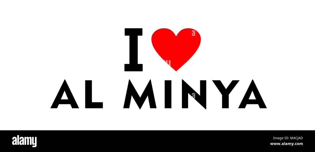 Minya egypt stock photos minya egypt stock images alamy i love al minya city egypt country heart symbol stock image buycottarizona Images