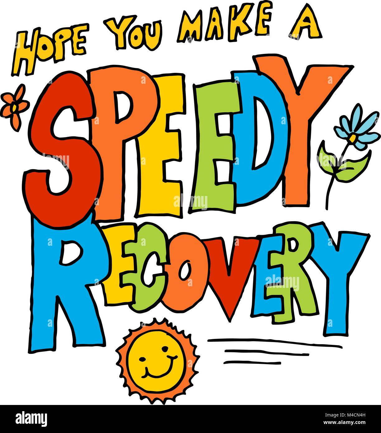 an image of a hope you make a speedy recovery message
