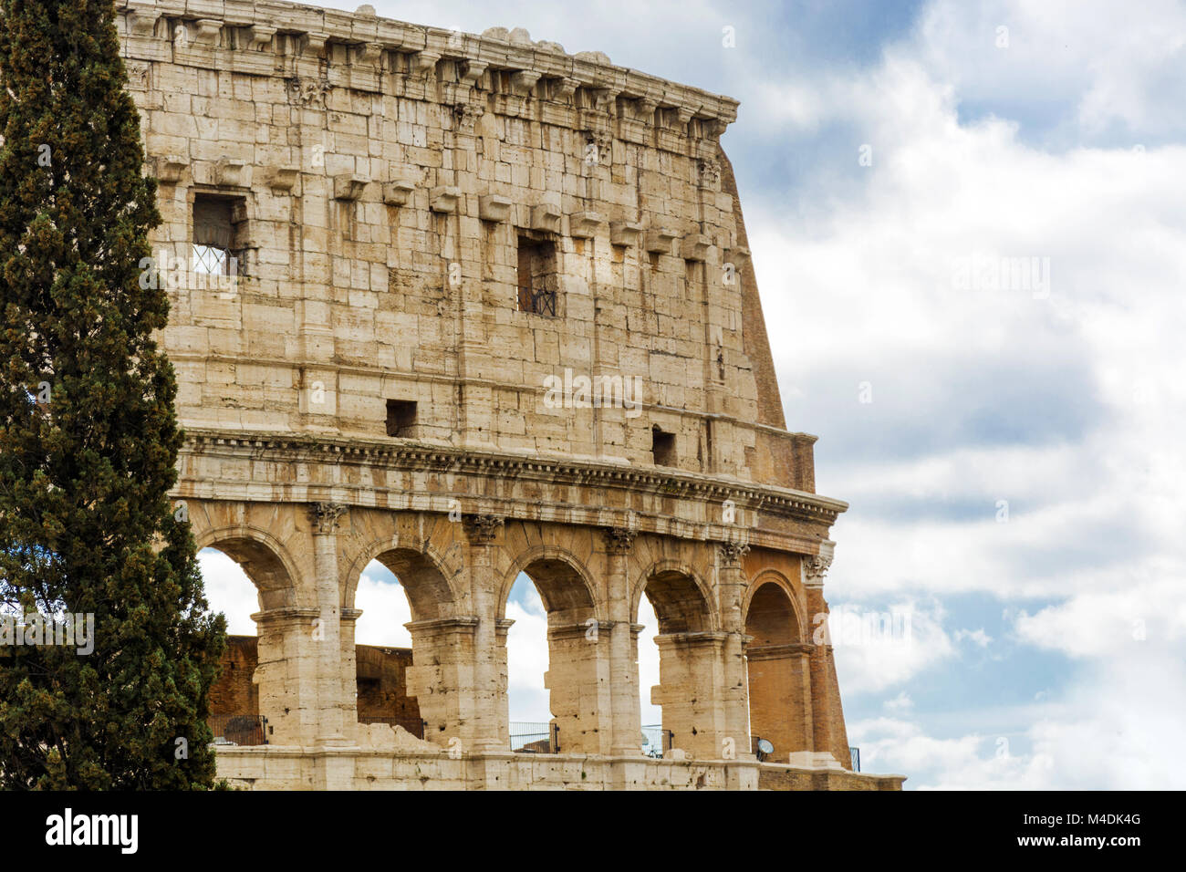 an overview of the iconic fluvian amphitheater or coliseum Though two-thirds of the original colosseum has been destroyed over time, the  amphitheater remains a popular tourist destination, as well as an iconic symbol.