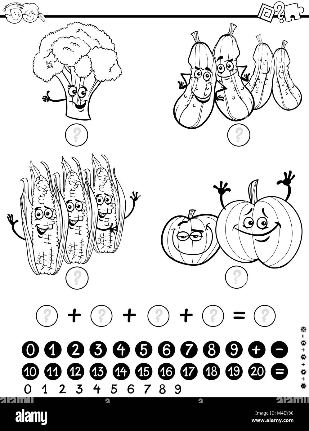 Maths Activity Worksheet For Coloring