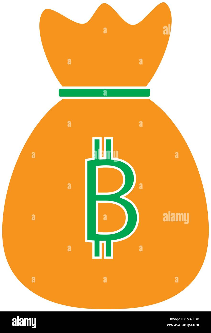 Bitcoin crypto currency icon or logo vector over a money bag bitcoin crypto currency icon or logo vector over a money bag symbol for bank or banking on a digital economy with virtual cash and currencies used f biocorpaavc Gallery
