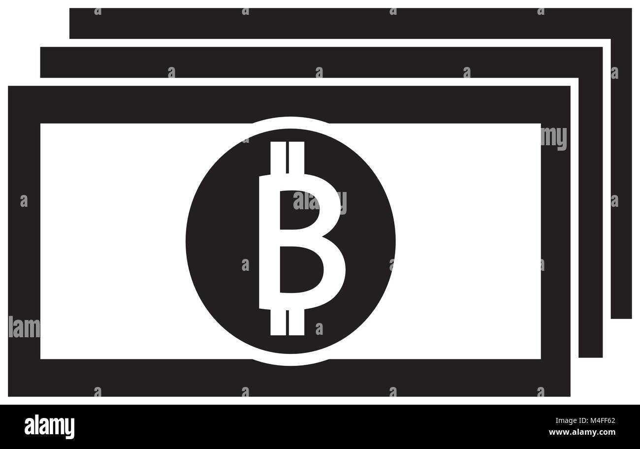 Bitcoin crypto currency icon or logo vector on a bank note or bill bitcoin crypto currency icon or logo vector on a bank note or bill symbol for bank or banking on a digital economy with virtual cash and currencies u biocorpaavc Gallery