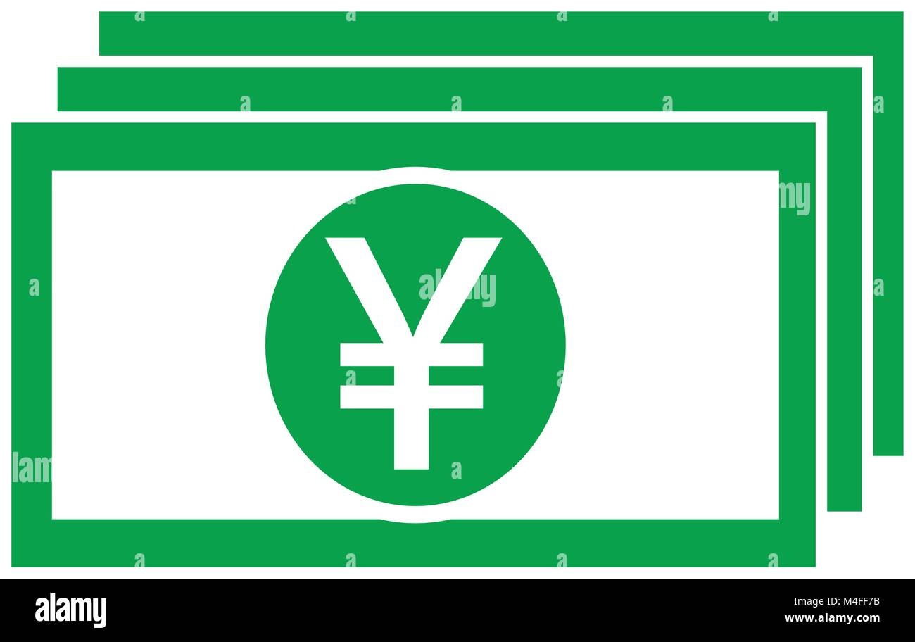 Yen yuan or renminbi currency icon or logo vector on a bank note yen yuan or renminbi currency icon or logo vector on a bank note or bill symbol for japanese or chinese banking or japan and china finances biocorpaavc Gallery