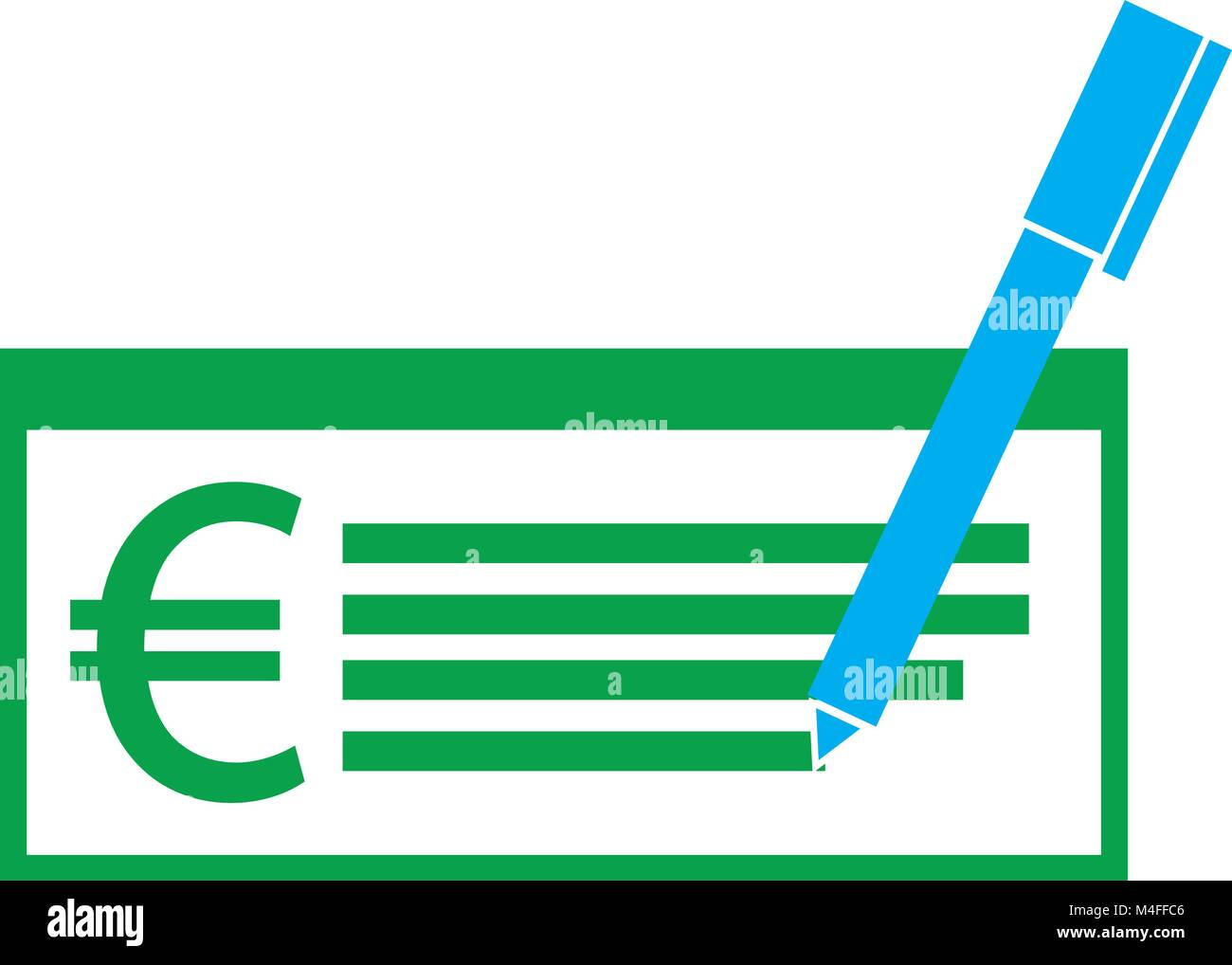 Euro currency icon or logo vector on a paycheck or cheque symbol euro currency icon or logo vector on a paycheck or cheque symbol for european union bank banking or europe eurozone finances buycottarizona Choice Image