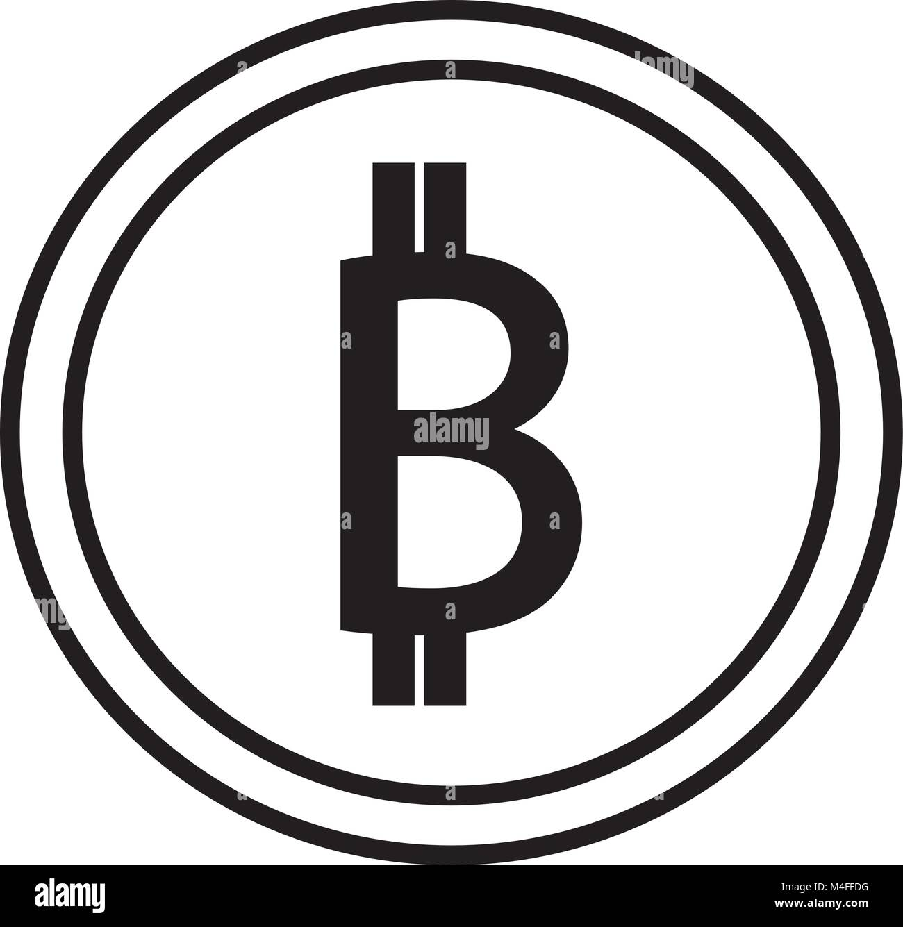 Bitcoin crypto currency icon or logo vector over a coin symbol bitcoin crypto currency icon or logo vector over a coin symbol for bank or banking on a digital economy with virtual cash and currencies used for com biocorpaavc Gallery