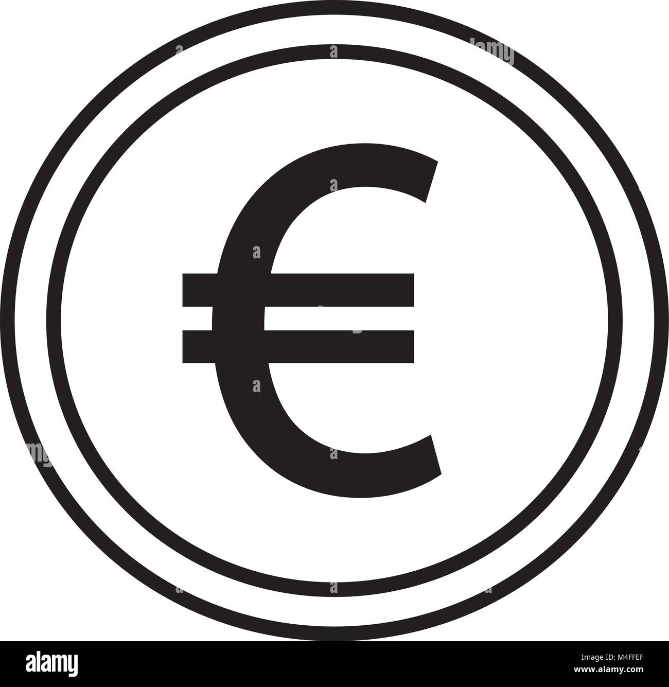 Icons illustration stock photos icons illustration stock images euro currency icon or logo vector over a coin symbol for european union bank biocorpaavc Gallery