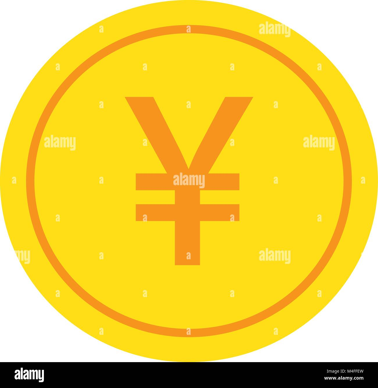 Yen yuan or renminbi currency icon or logo vector over a coin stock yen yuan or renminbi currency icon or logo vector over a coin symbol for japanese or chinese bank banking or japan and china finances buycottarizona Gallery