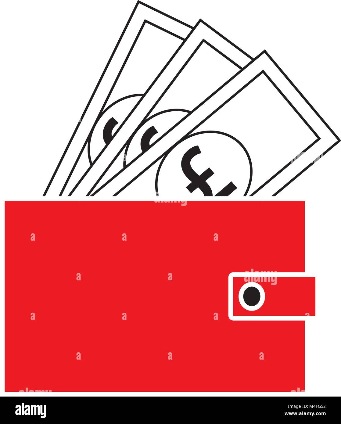 Pound Sterling Currency Icon Or Logo Vector On Notes Popping Out Of
