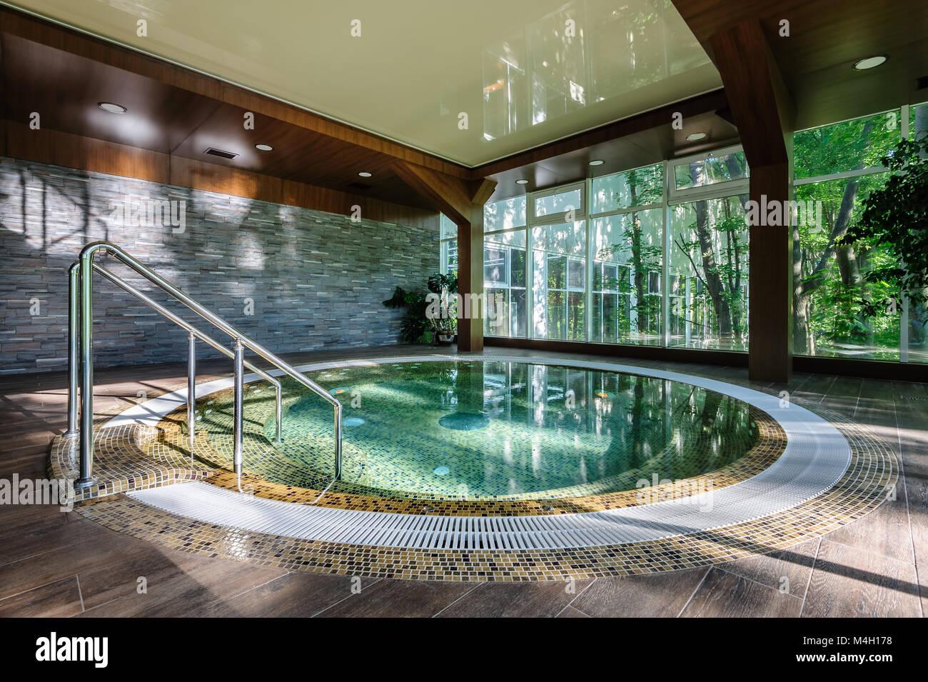 Big luxury jacuzzi tub Stock Photo, Royalty Free Image: 174936476 ...