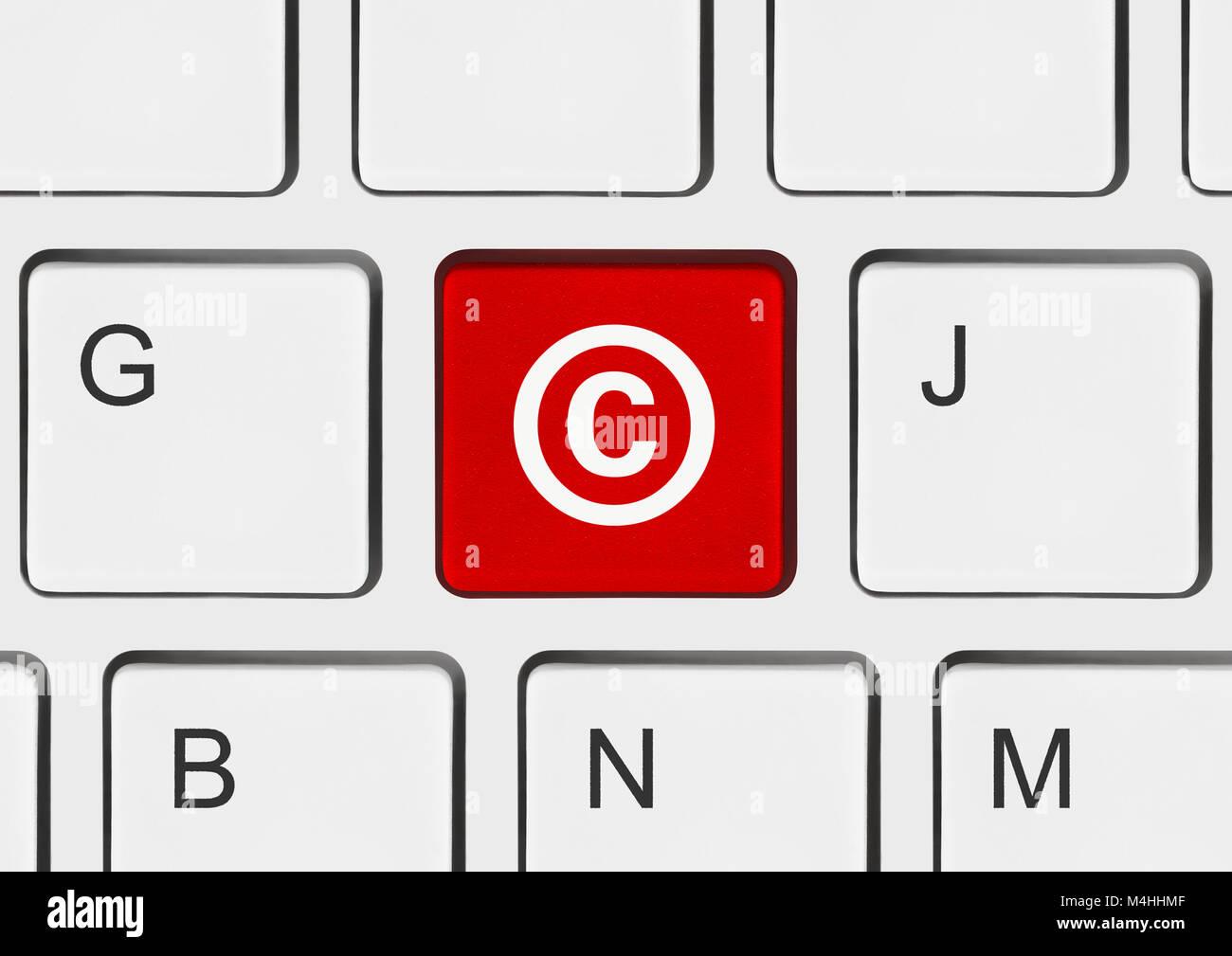 Copyright symbol stock photos copyright symbol stock images alamy computer keyboard with copyright symbol stock image biocorpaavc Choice Image