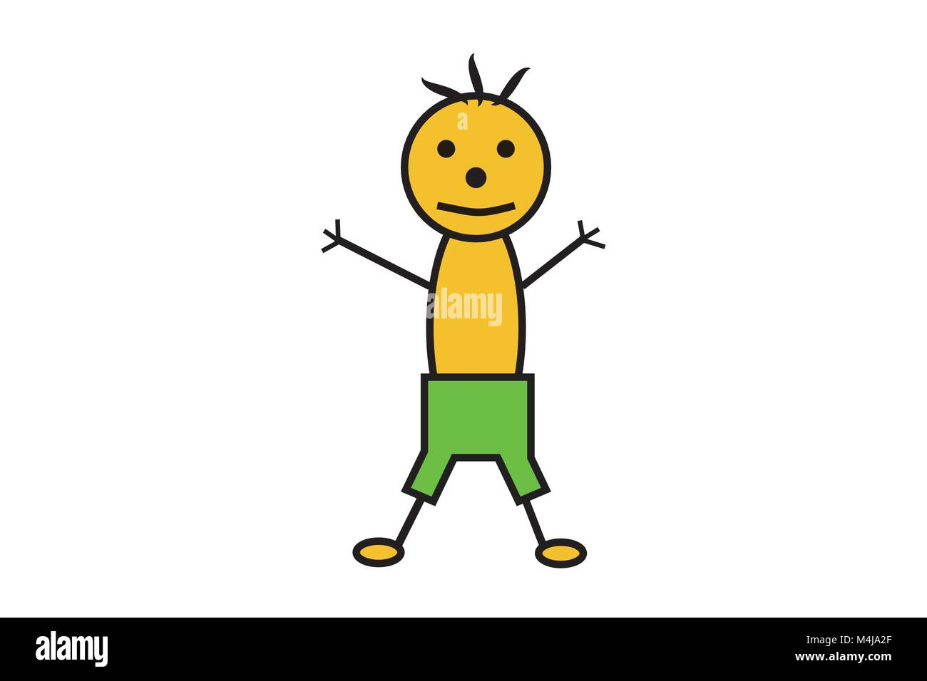 Illustration of boy vector of stick man little man male figure illustration of boy vector of stick man little man male figure symbol for man icon for male boy in bathing trunks smiling boy in shorts child biocorpaavc Images