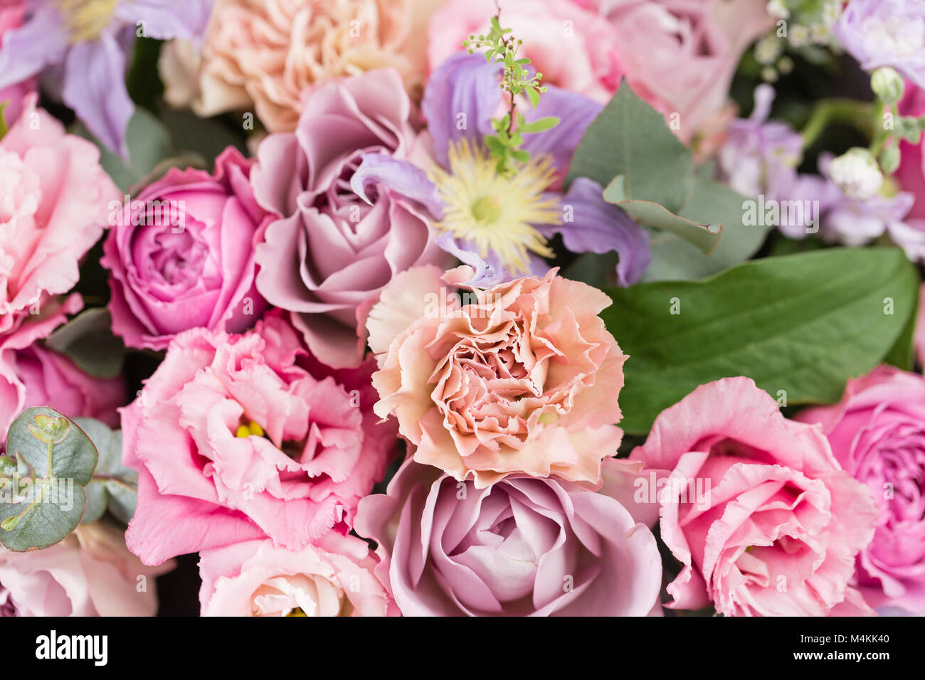 Close up beautiful luxury bouquet of mixed flowers in glass vases close up beautiful luxury bouquet of mixed flowers in glass vases the work of the florist at a flower shop wallpaper reviewsmspy