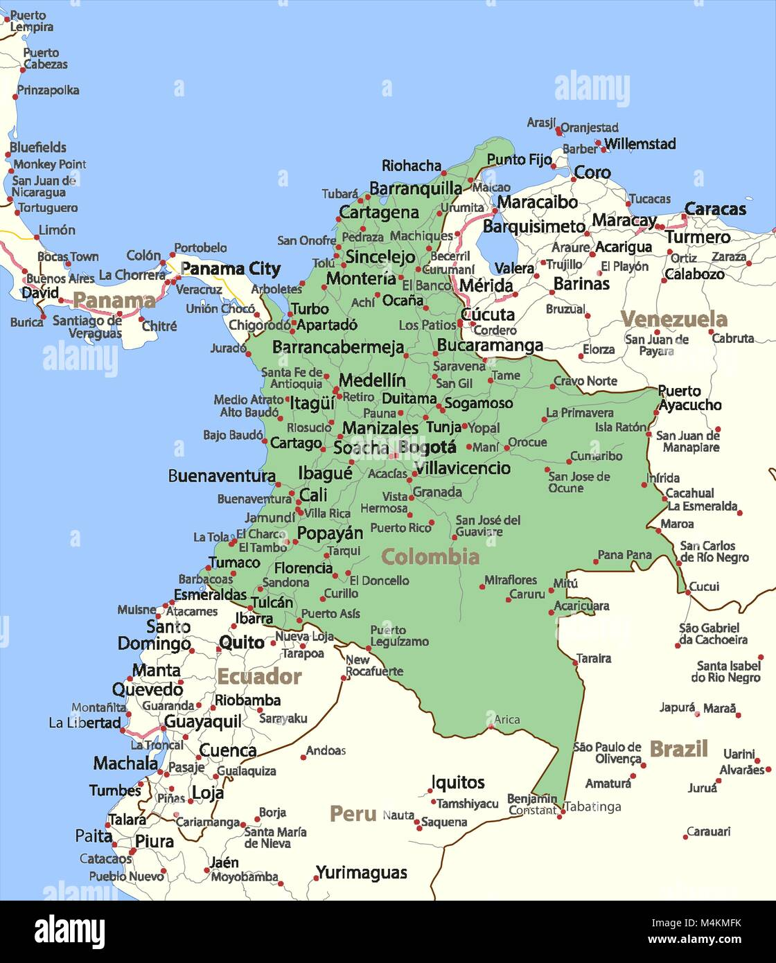 Outline Map Colombia Stock Photos Outline Map Colombia Stock - Paita map