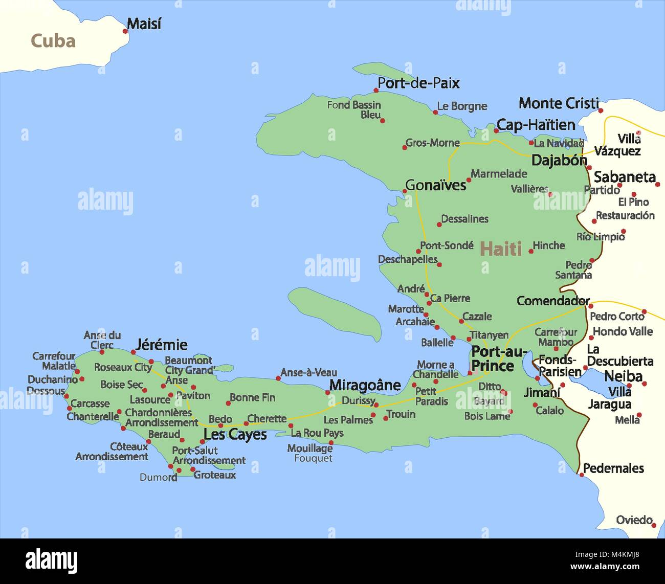 Map of haiti shows country borders urban areas place names and map of haiti shows country borders urban areas place names and roads labels in english where possible projection mercator gumiabroncs Images