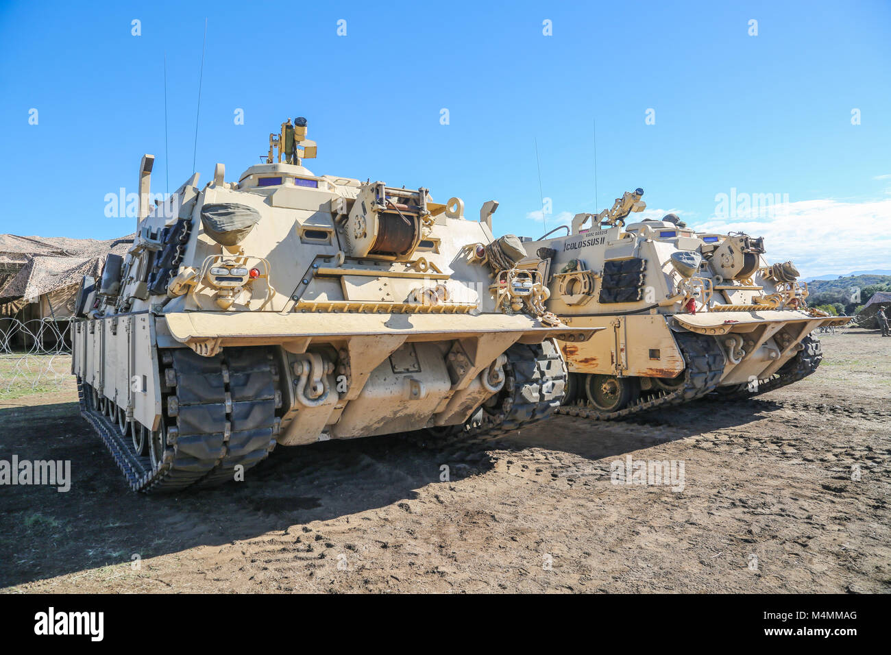 Us marines engage in an exercise on an m88 tank recovery vehicle us marines engage in an exercise on an m88 tank recovery vehicle on camp pendleton marine corps base camp pendleton calif 13 feb 2018 reheart Images