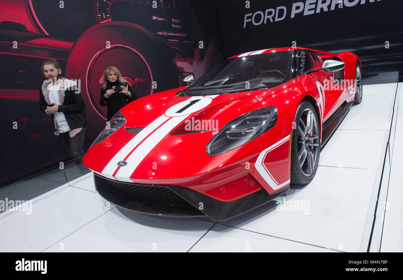 Toronto Canada Th Feb  Ford Gt Car Is On Display During The  Canadian International Autoshow At The Metro Toronto Convention Centre In