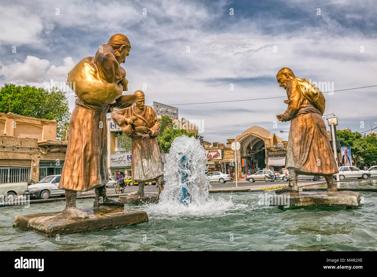 Image of: Yazd Three Old Travelers Statues In Yazd Alamy Three Old Travelers Statues In Yazd Stock Photo 175069510 Alamy