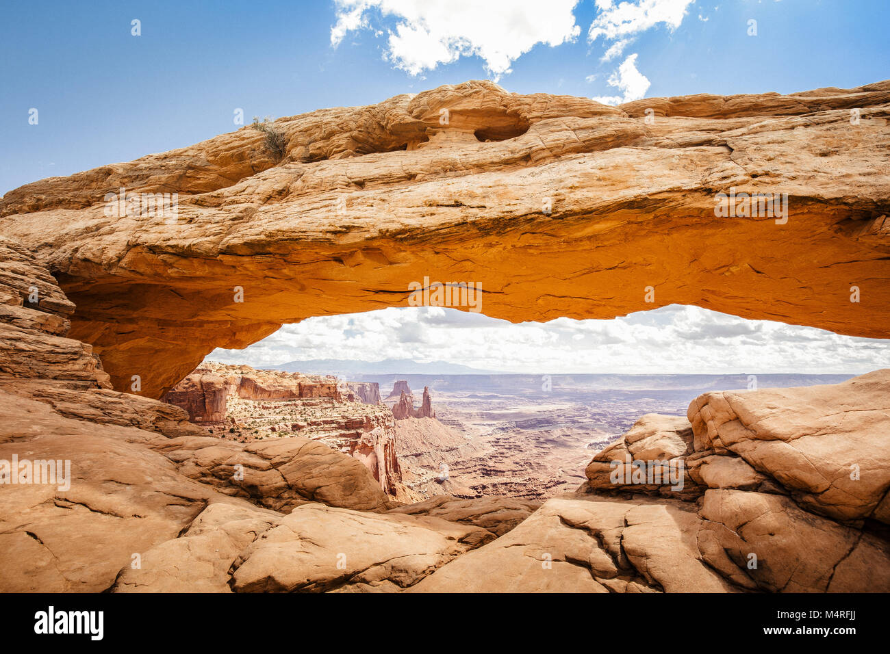 Classic view of famous mesa arch symbol of the american southwest classic view of famous mesa arch symbol of the american southwest illuminated in scenic golden morning light at sunrise on a beautiful day in summer buycottarizona Gallery