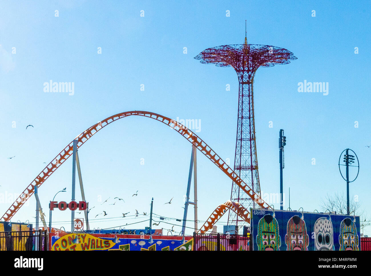 Coney Island Old Rides, New York USA Stock Photo: 175079540 - Alamy