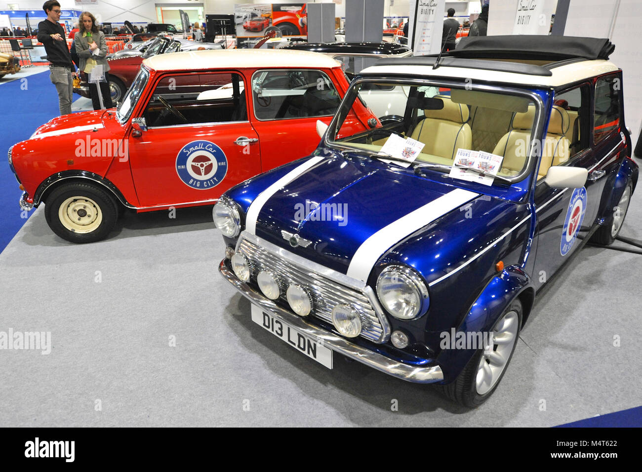 Vintage Minis On Display At The London Classic Car Show Which Is - London classic car show