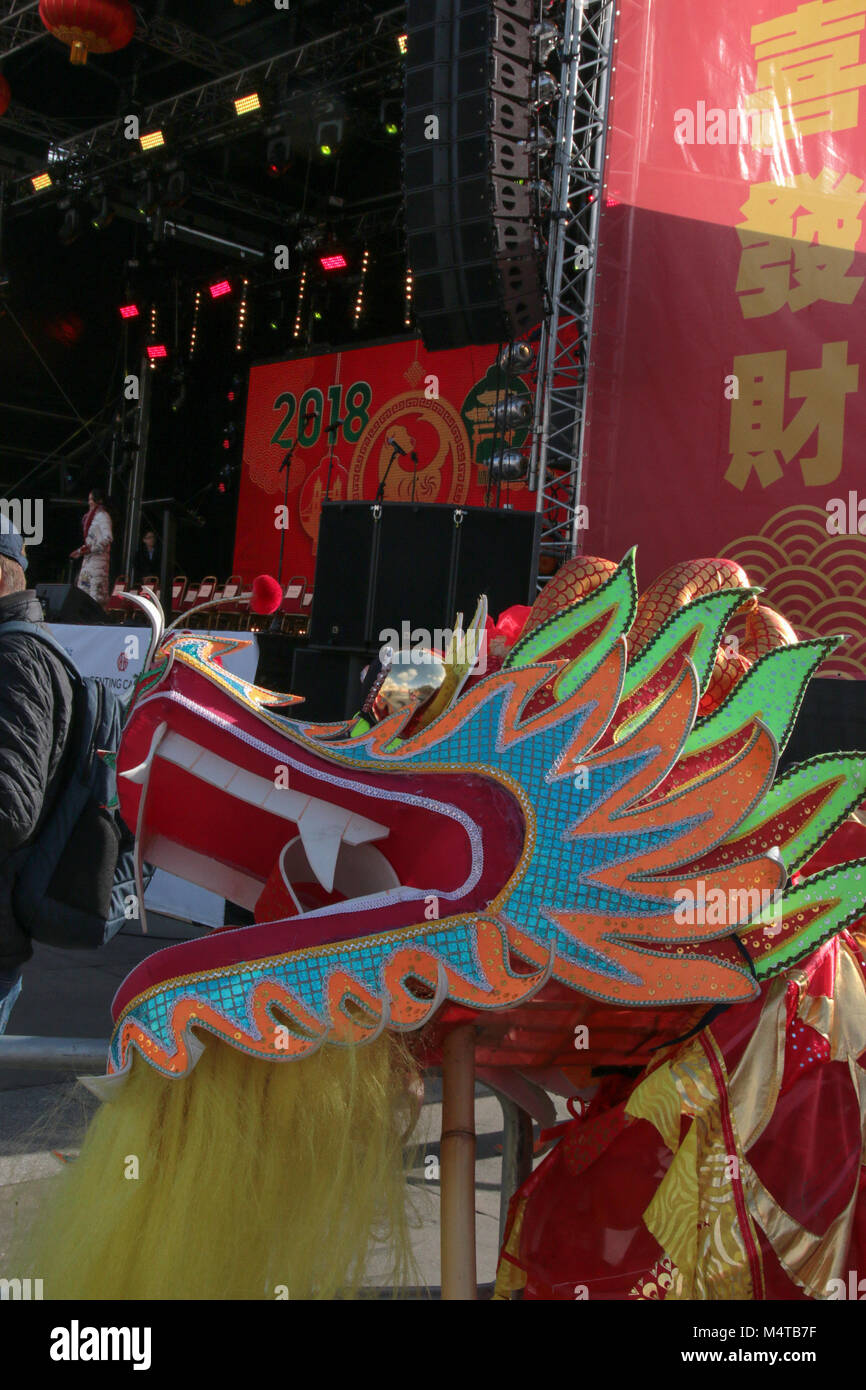 london uk 18 february 2018 london celebrate the chinese new year of the dog his year will be the biggest chinese new year celebrations yet the theme of