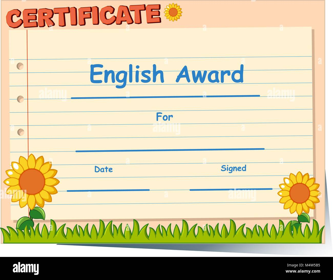 English garden stock vector images alamy certificate template for english award illustration stock vector yelopaper Choice Image