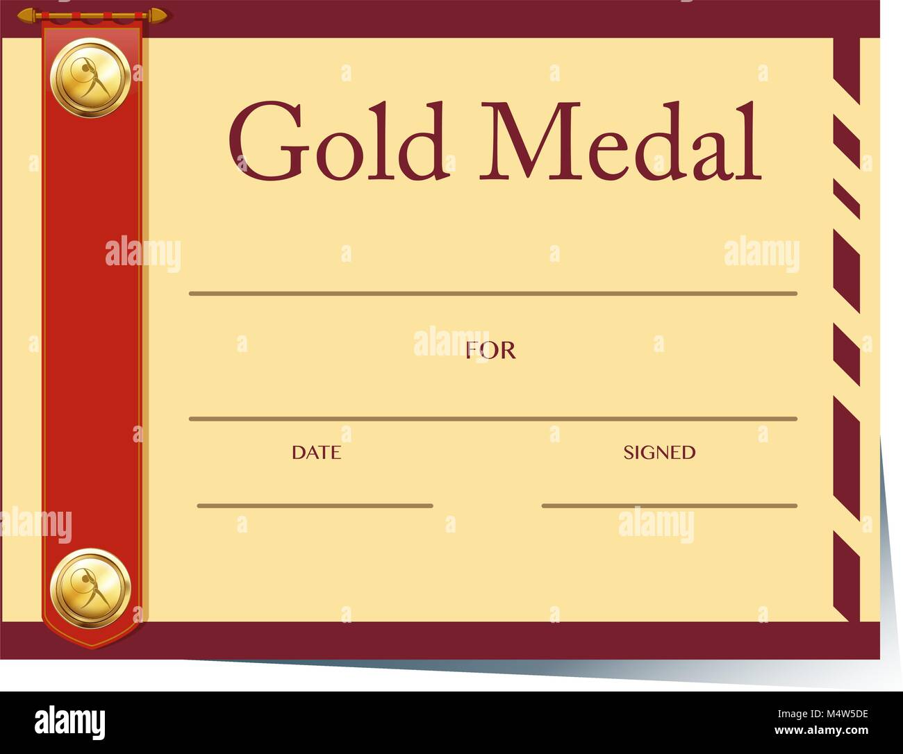Gold medal certificate template images templates example free gold medal certificate template gallery templates example free certificate template for gold medal on paper illustration yadclub Image collections