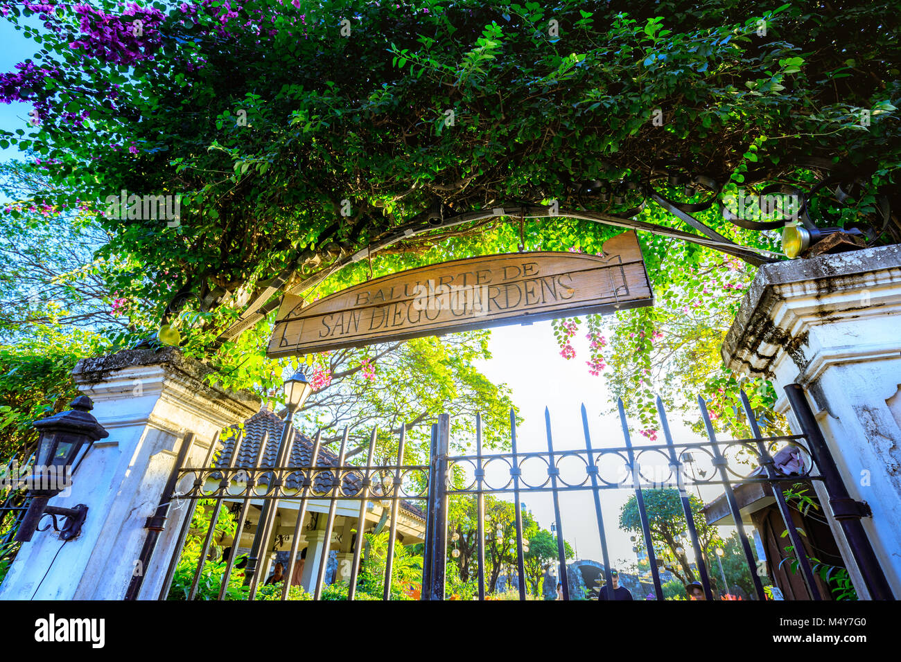Manila, Philippines   Feb 17, 2018 : Gate Of San Diego Gardens At Spanish  Colonial Intramuros In Manila, Philippines